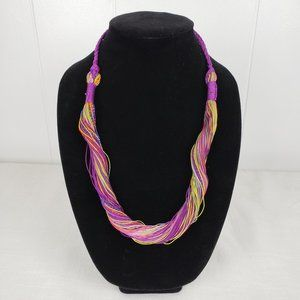 Jewelry - Multi-Color Twisted String Thread Necklace
